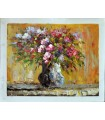 Impressionist flowers vase 1 - Oil on canvas