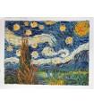 Noche estrellada- pintura estilo impresionista-Óleo s/lienzo