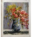 Jarrón flores impresionista 4-Óleo s/lienzo