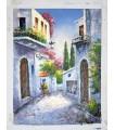 "Mediterranean village ""Vimo"" 2 - Oil on canvas"
