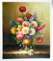 "Vase with classic flowers ""Gibson"" - Oil on canvas"