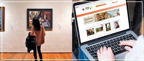 Comprar cuadros Online vs Comprar cuadros físicamente